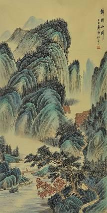 当代著名画家 阳骏 山水 国画