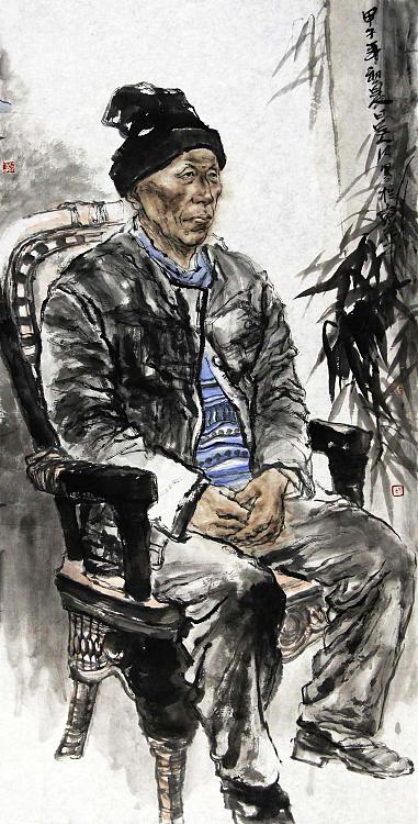兰州工业学院艺术设计学院副教授 吴江 写实老人