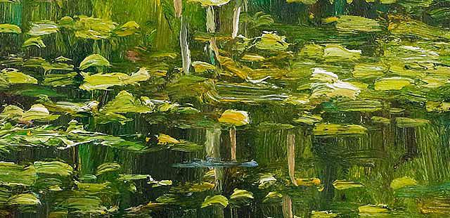 当代著名风景油画家 刘春建 《映》