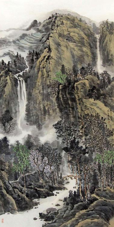 中国美协会员 周文会 山水作品