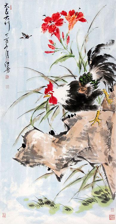 国家一级美术师 孙键芳 花鸟 国画