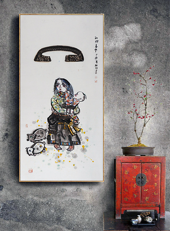 中国美协会员 陈阳 人物 国画