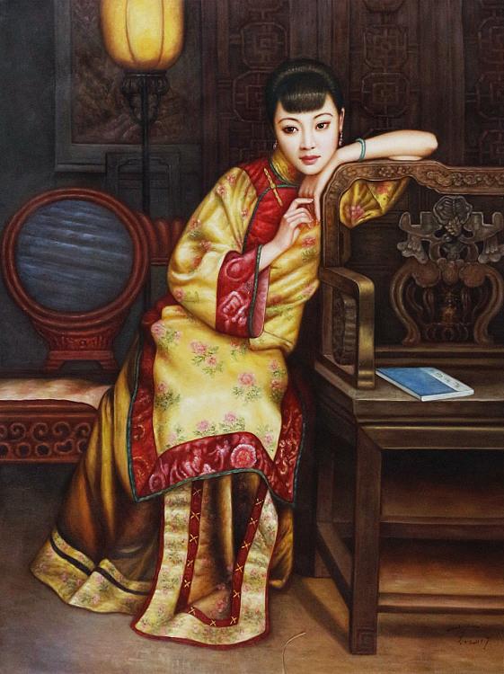 《檀香》北京东方油画创作院副院长 陈一茗