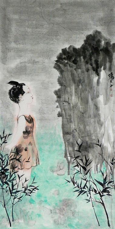 中央美术学院硕士 杨平 人物 国画