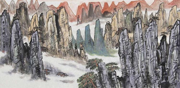 江苏省美术家协会会员 吴金龙 山水 国画