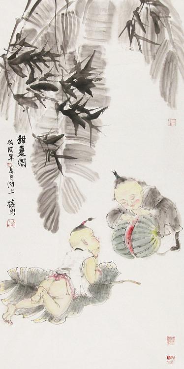 中国美术家协会会员 刘德明 人物 国画