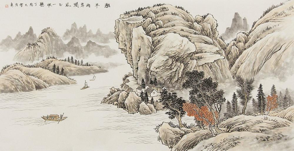 水各种树木绘画步骤