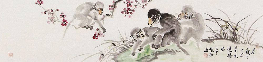 赵钲国画花鸟作品赏析   表现动物鲜活的生活状态,与植物相互辉映,呈现了生机勃勃的景象【博宝·资讯】