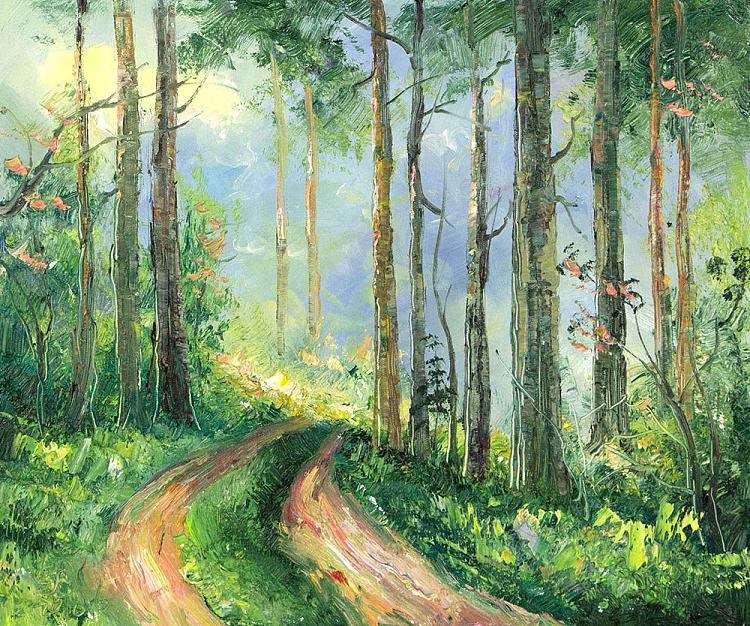 春山如笑 当代著名风景油画家 刘春建 油画