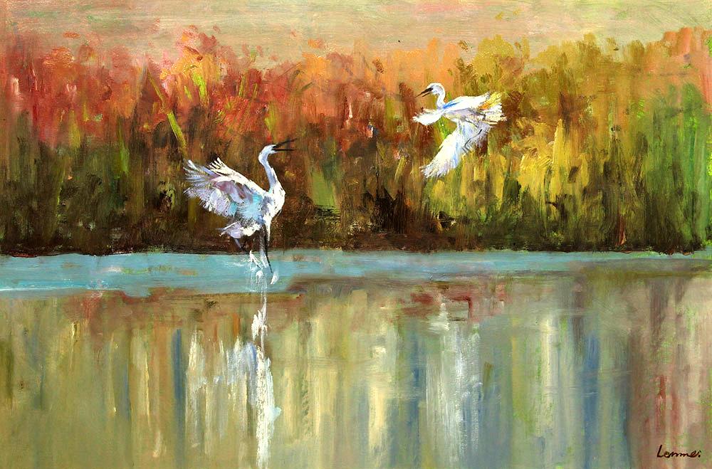 张和福风景油画作品赏析 | 追求笔触感和肌理效果【博