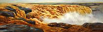 【甄选巨幅创作】黄河创作写生经典纯布面油画  当代油画家 叶乐辛