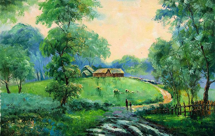 当代风景油画家 刘春建 油画 油画