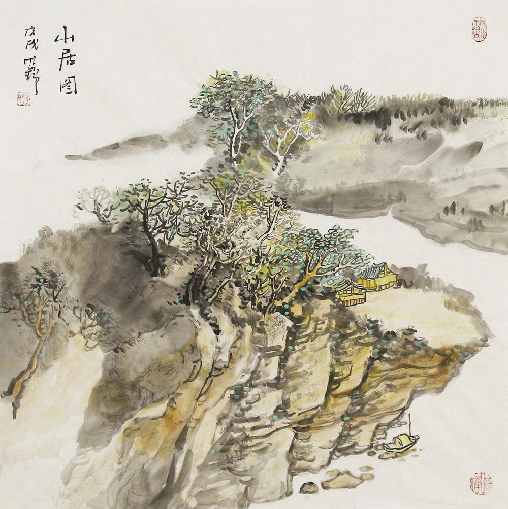 鲜活地绘画自然的风云变幻,重墨渲染,体现出人与自然的亲密融合【博宝•资讯】