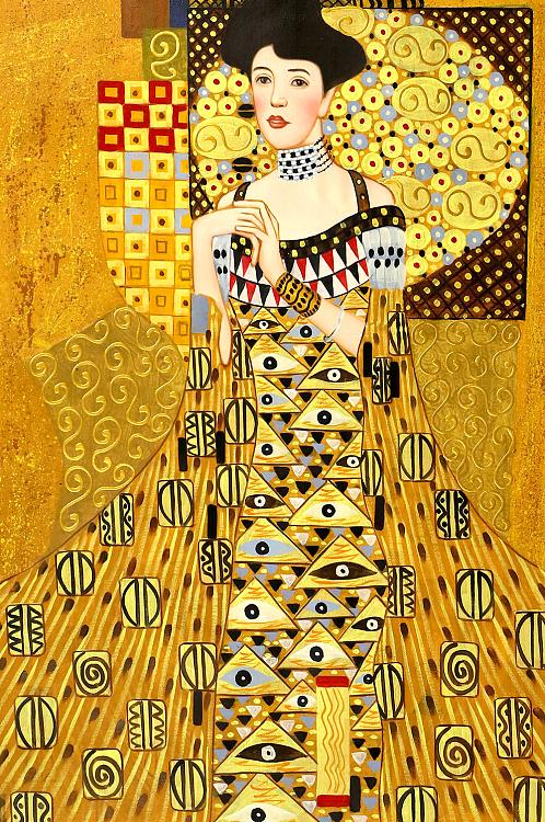 世界著名油画 《达娜厄》古斯塔夫 克林姆特 临摹纯手绘油画
