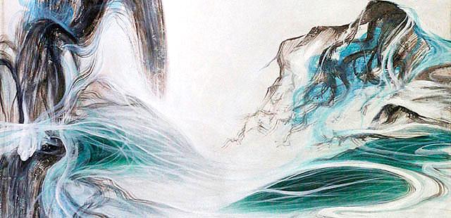 2米巨幅抽象 油画  当代油画家 孙建华 布面纯手绘油画