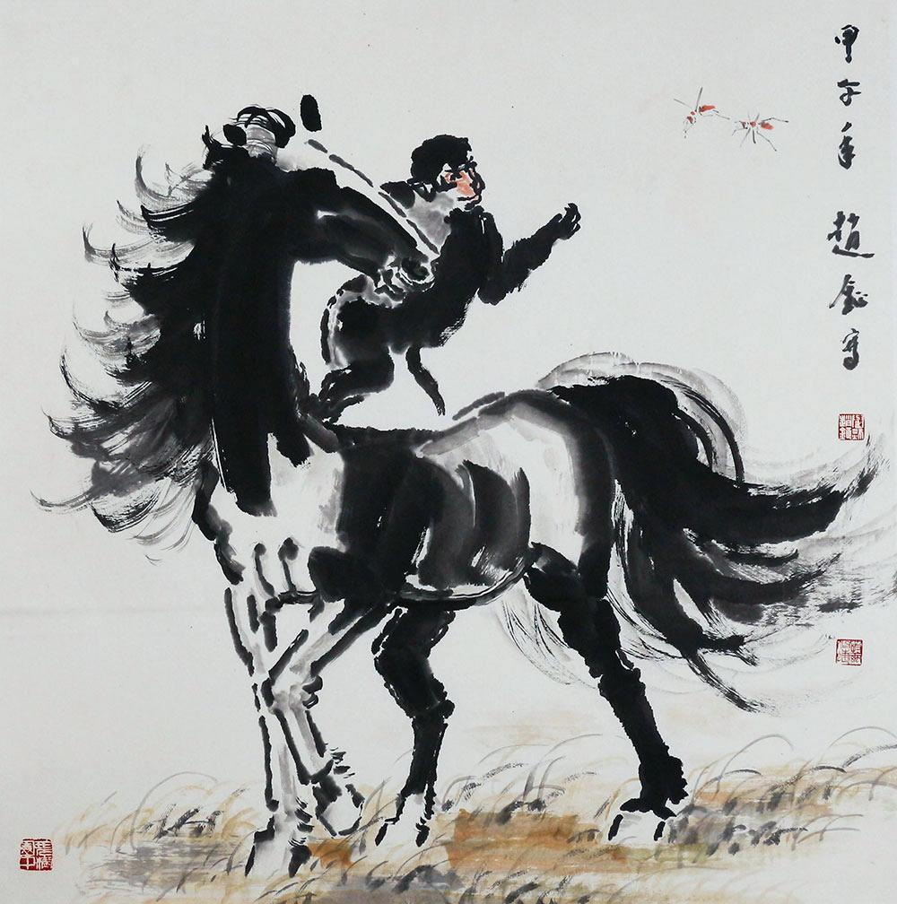 中国美术家协会会员 赵钲《马上封侯》