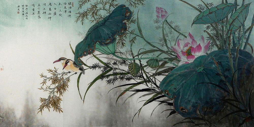 中国美术家协会会员 陈敬友 花鸟作品