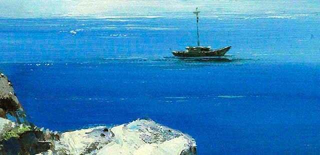 海洋的蓝色 当代油画家 施永祥 油画