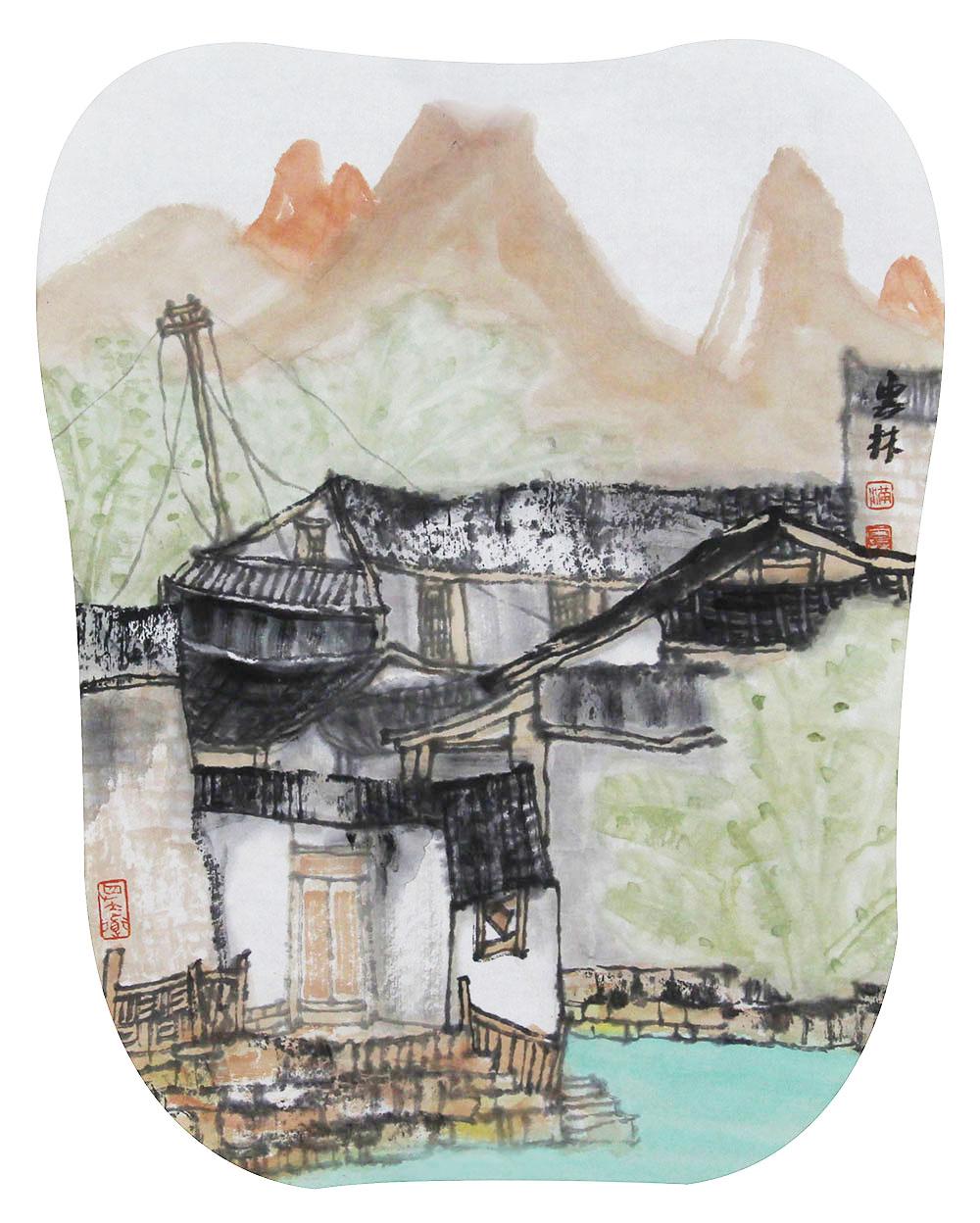 中美协会员 国家一级美术师 满威 山水 国画
