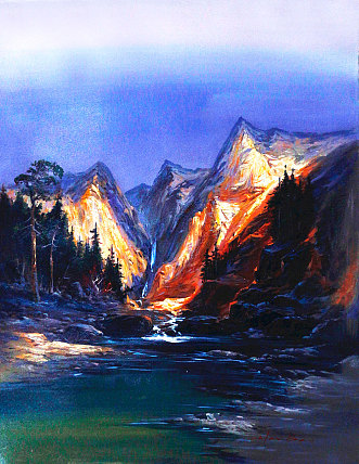当代油画家 陈海宝  创作风景油画   油画