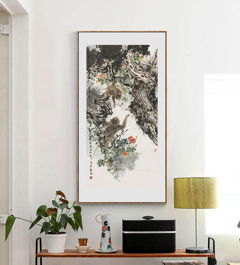 中国美协会员 赵钲 花鸟6月个人展览作品 国画