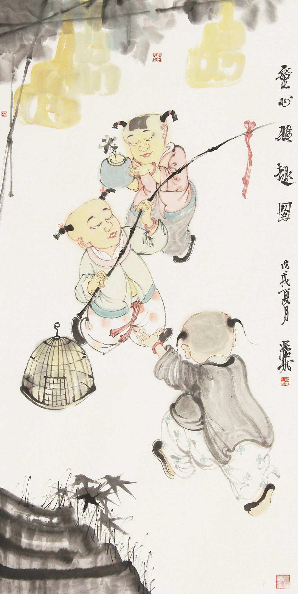 中国美术家协会会员 赵锦龙 人物6.1展览作品 国画