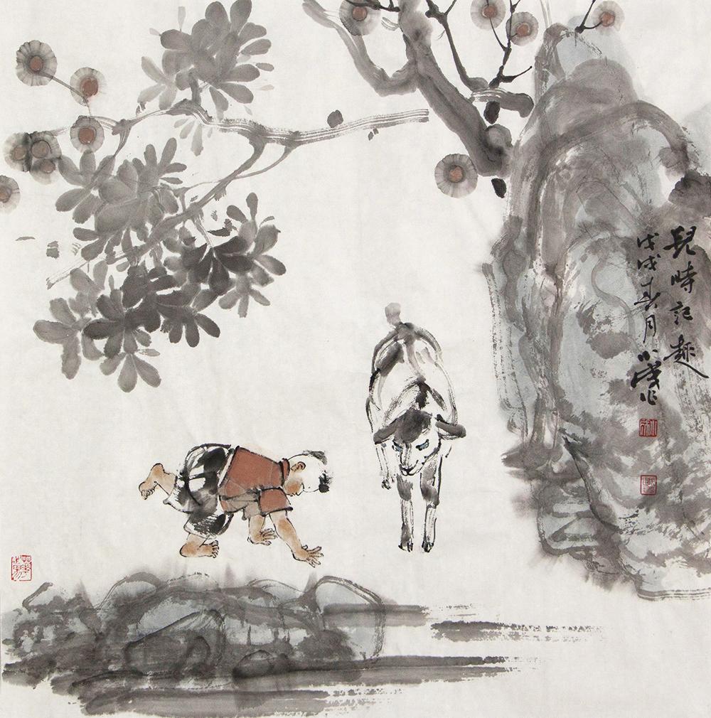 中国美协会员 李小成 国画人物