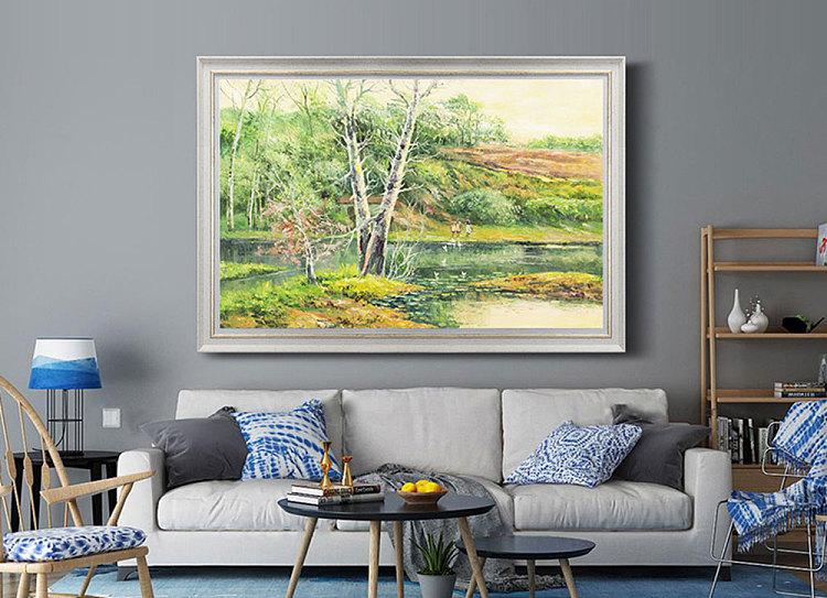 甄选大尺幅 写实风景油画     当代著名风景油画家 刘春建 《暮光之城》