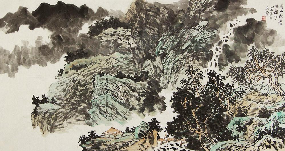 【六尺整张】宁夏美协副主席 中美协-中书协会员 雍进成 山水 国画
