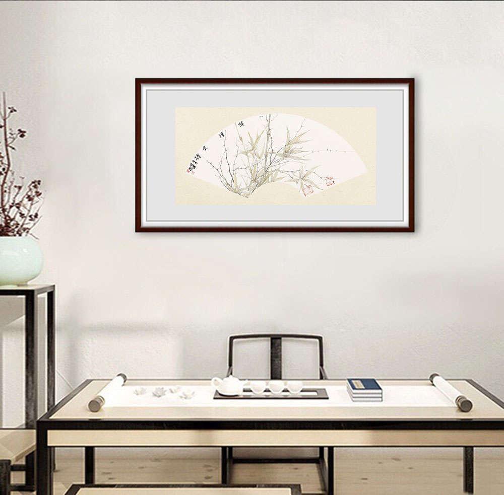 中国书法家协会会员 曲璞 一枝清瘦  扇面展览作品