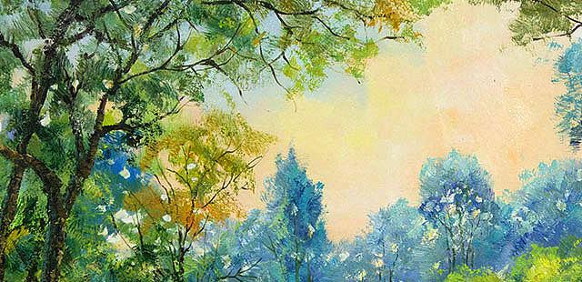 【甄选巨幅创作】 当代风景油画家 刘春建 原创写生风景油画