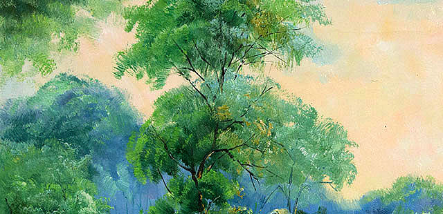 【收藏推荐】 当代风景油画家 刘春建 油画 油画 纯手绘布面油画