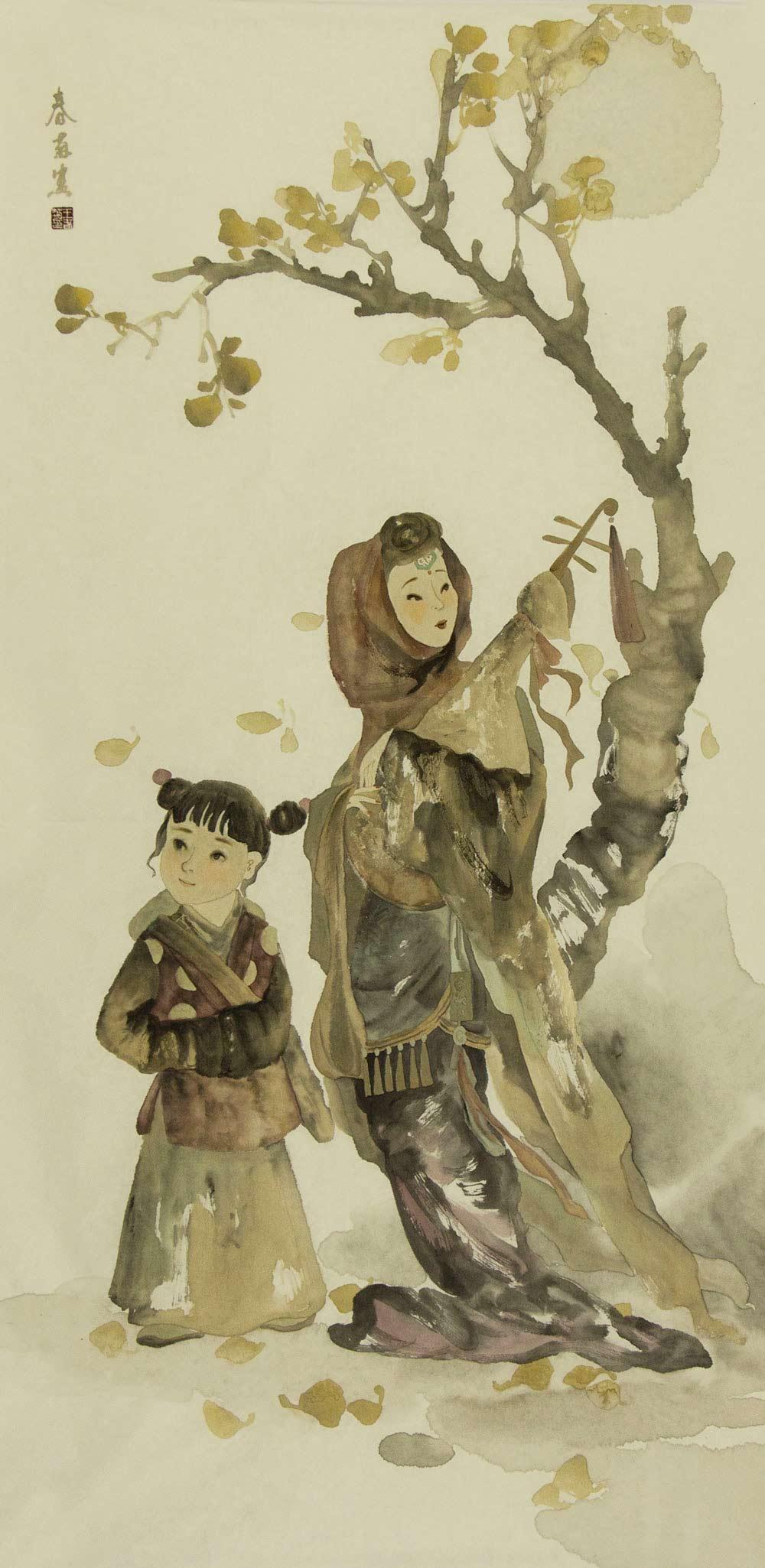 河北省美协会员 中国女子画会会员 工笔协会会员 王春菊 人物