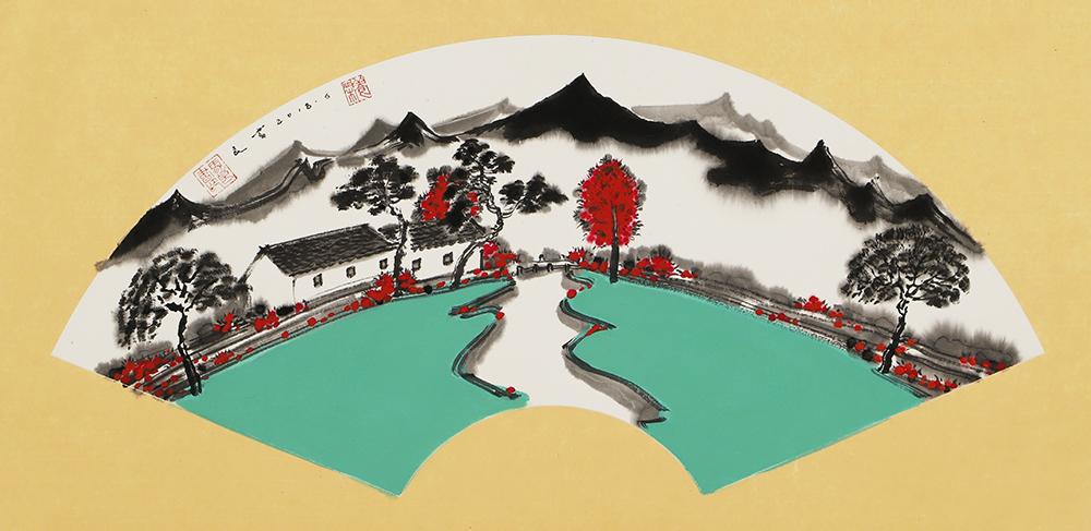 中国美术家协会会员    美术学博士,副教授   马良书 凝意赋象 展览作品 田园居之五