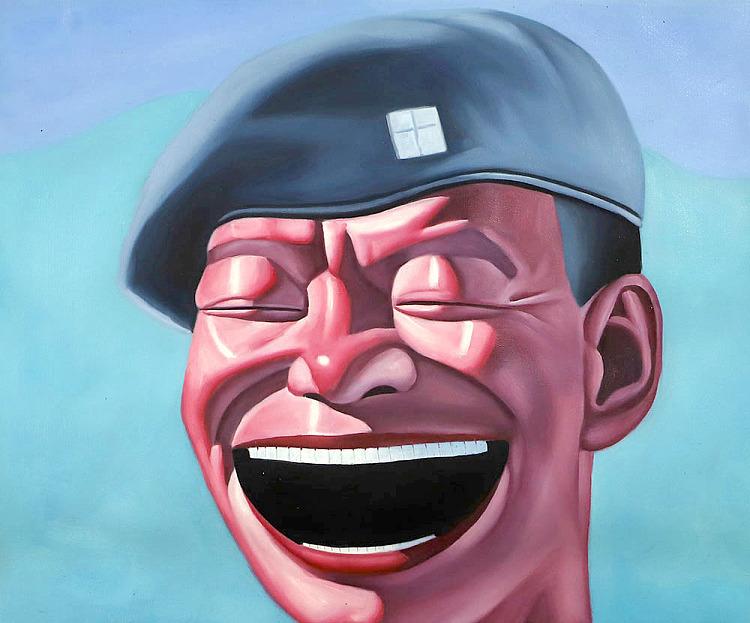 当代油画家 肖勇 油画笑脸 油画
