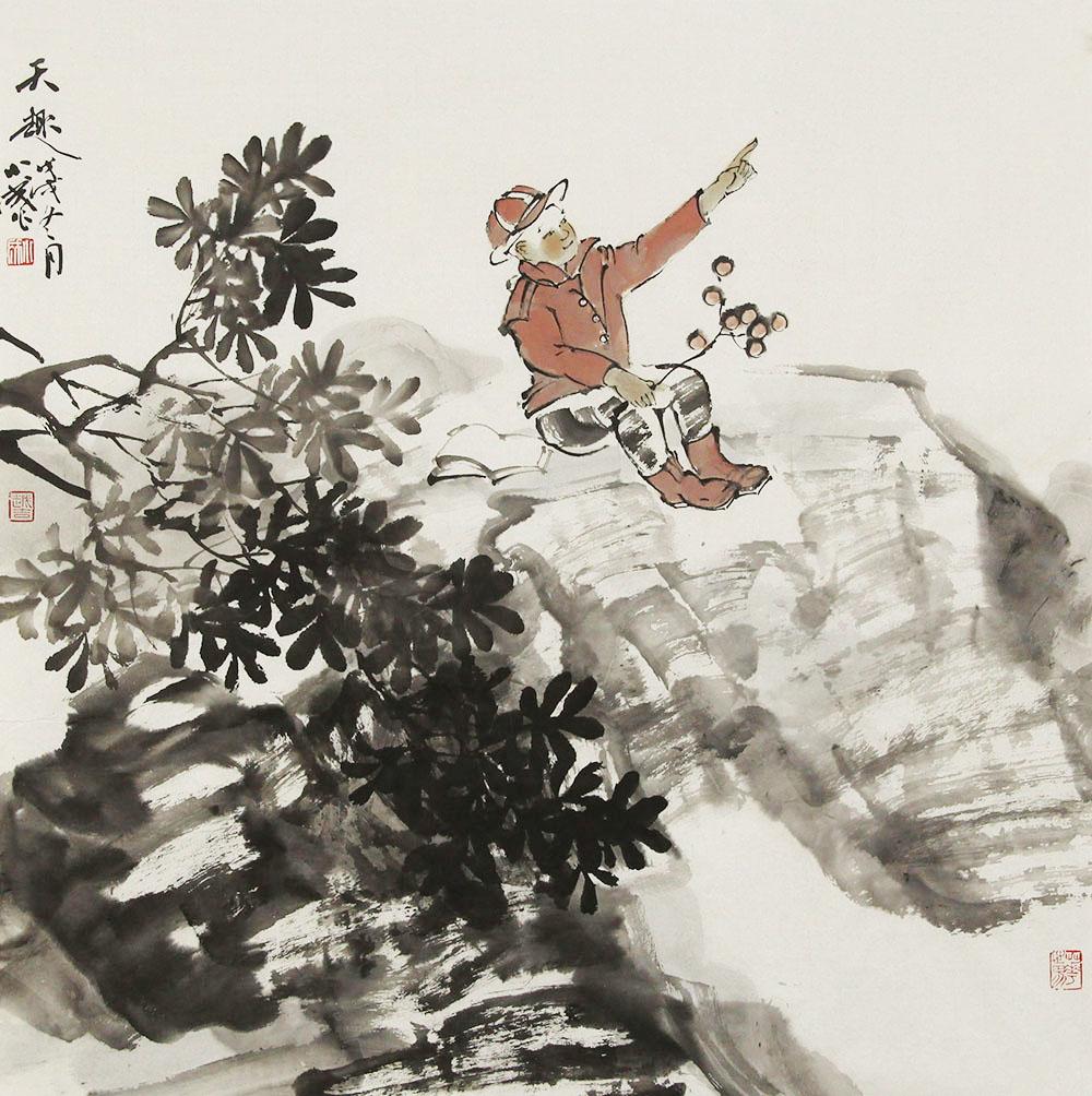 中国美术家协会会员 李小成 人物 国画