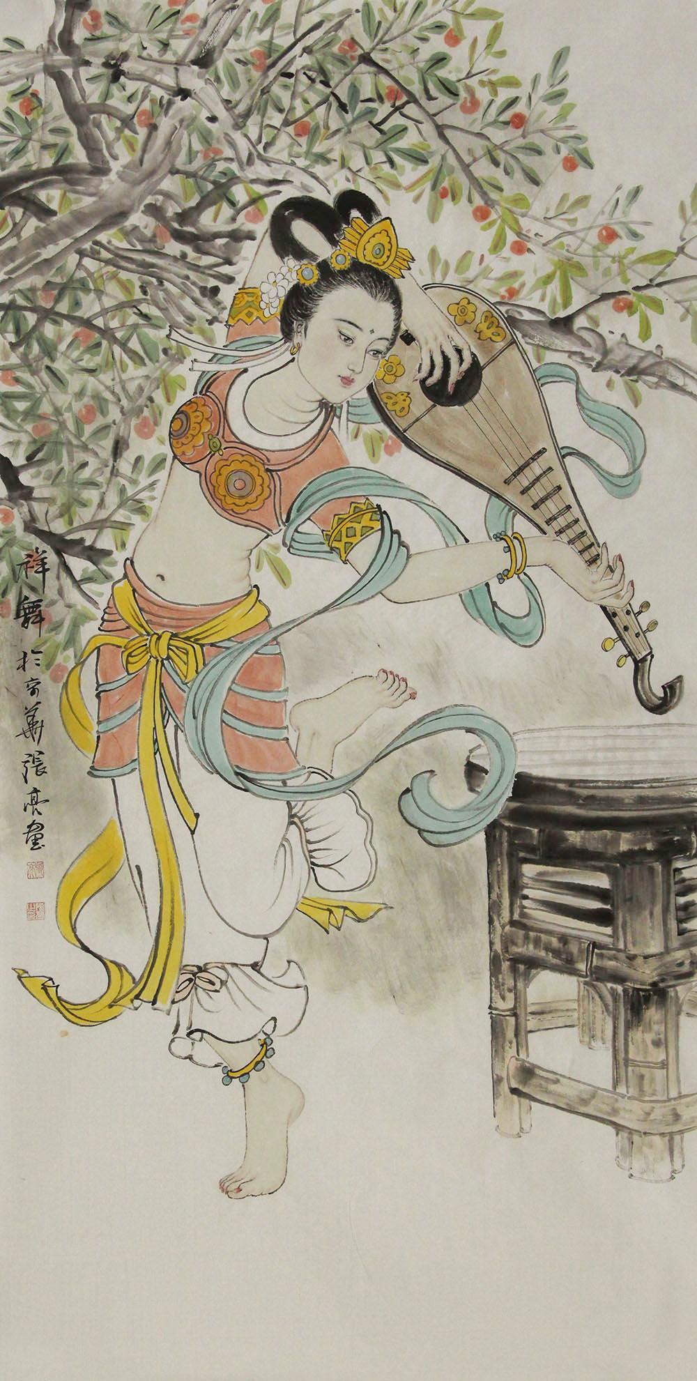 中国艺术研究院研究生 张亮 人物 国画