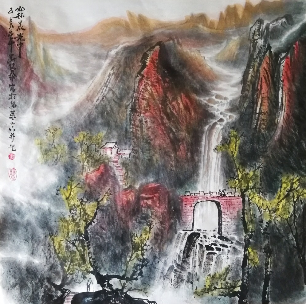 刘铸泰山水画作品赏析 | 山水呼应氛围,大自然无比壮丽【博宝·资讯】