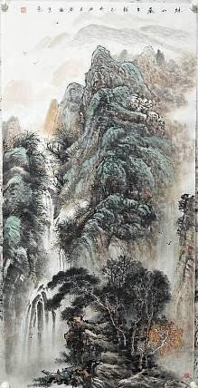 中美协会员 任广强 创作精品 秋山藏古韵