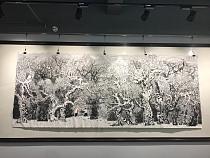 中国百家画展金奖-张东林丈二密体山水精品