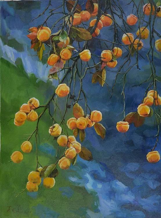 著名画家杨华,油画,鸿运当头