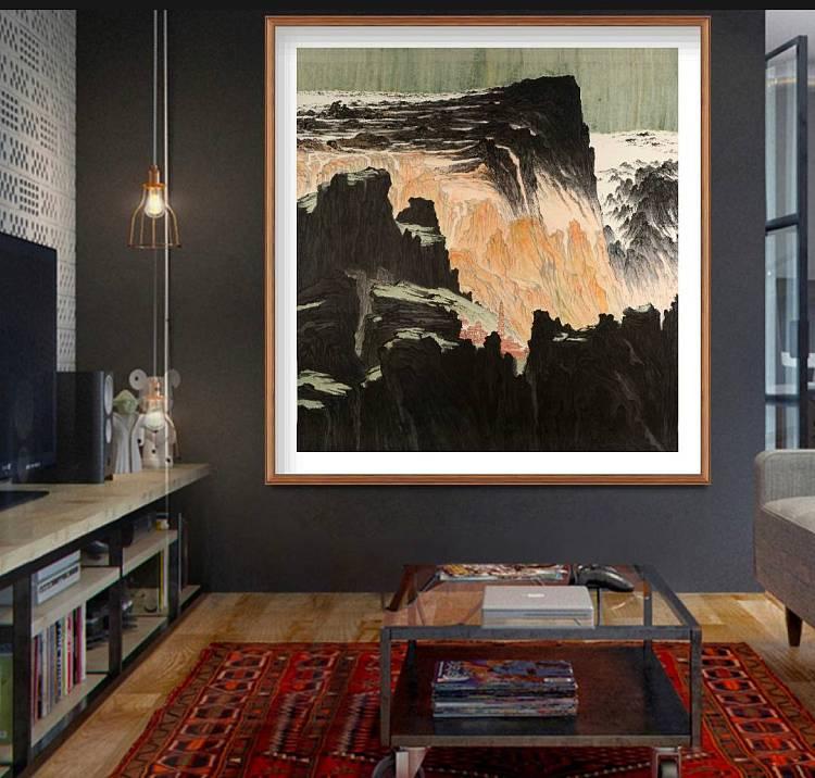 巨幅——中国美术家协会会员  学院教授  沈胄 《佛国》