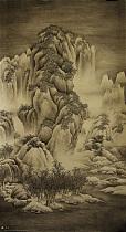 北京重彩工笔画协会会员 昭非 雪景寒林