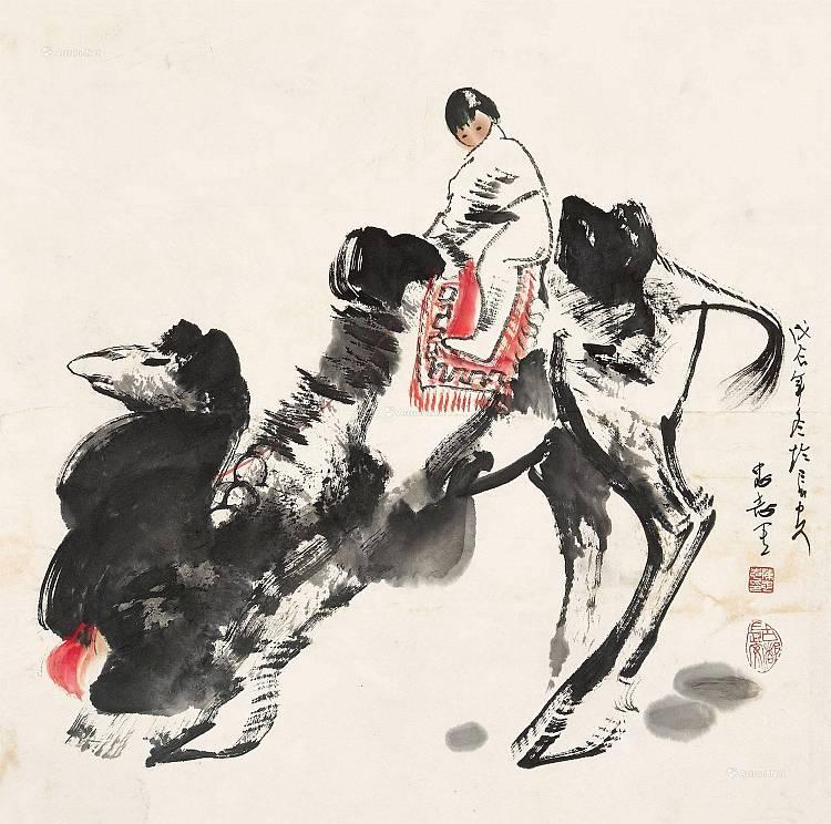 西安美术学院教授 陈忠志 《骆驼女姑》